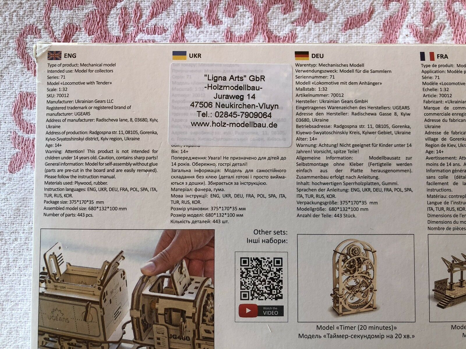 Achats de de de Noël UGEARS LOCOMOTIVE WITH TENDER  70012 ff7e4d