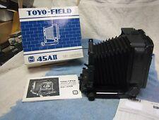 new Toyo 45A II 4x5 Field Camera toyo ground glass, folding hood, revolving back
