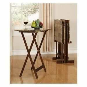 Image Is Loading TV Tray Table Set Folding Portable Snack Dinner