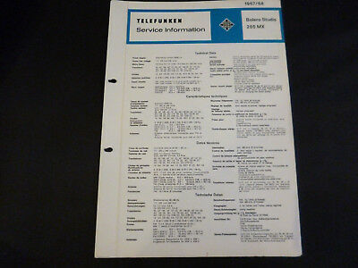 Tv, Video & Audio Original Service Manual Telefunken Bolero Studio 205 Mx Diversifiziert In Der Verpackung