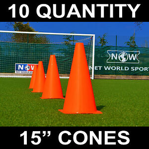 FORZA-Training-Marker-Cones-Football-Rugby-Traffic-Cones-10-Pack-3-Sizes