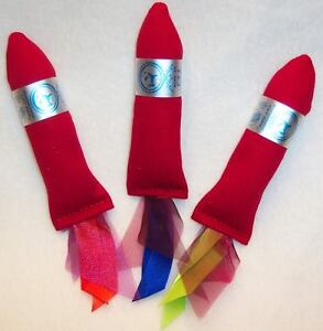 3-RATHERBEE-organic-CATNIP-ROCKETS-strong-cat-nip-toy-toys-Rocket-free-shipping