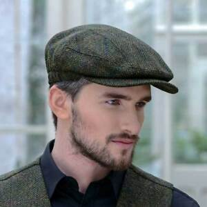 Quiet Man Mucros Kerry Cap Wool Tweed Irish Hat Green Col 27 .Made ... 0c93f1e1984c