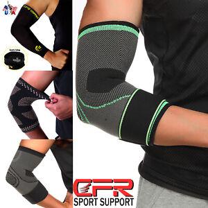 Copper Elbow Support Sleeve Arm Brace Wrap Tommie Fitness Compression Men Women