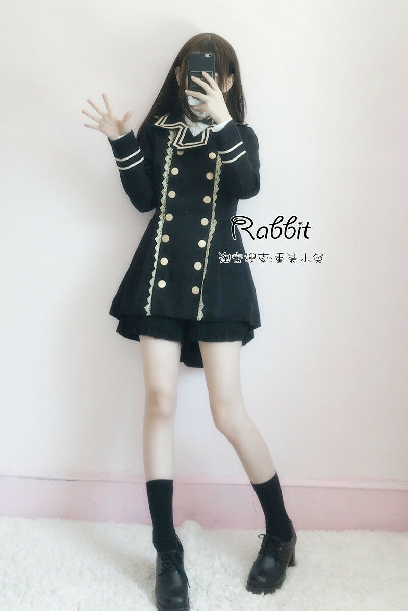 Swallowtail Sweet Lolita Small Fresh Military uniform Coat Blouse Shorts