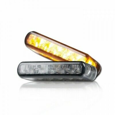 LED Motorrad Mini Micro Blinker Einbau Miniblinker Stripe schwarz universal zum Kleben 1 Paar