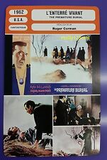 US  Poe Horror Film The Premature Burial Ray Milland  French Film Trade Card