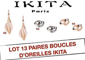 IKITA60-LOT-13-PAIRES-BOUCLES-D-039-OREILLES-IKITA-DESTOCKAGE-BIJOUX-FANTAISIE