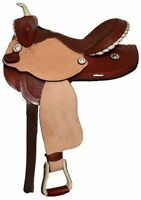 Double T Barrel Style Saddle With Basket Weave Tooling 14 15 16