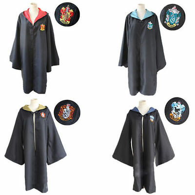 HARRY POTTER COSPLAY Elder Wand HOGWARTS TIE Gryffindor Cloak Robe CAPE Costume#