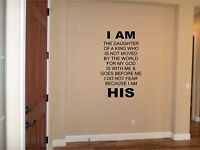 I Am His Wall Sticker Wall Art Decor Vinyl Decal Christian Wall Lettering