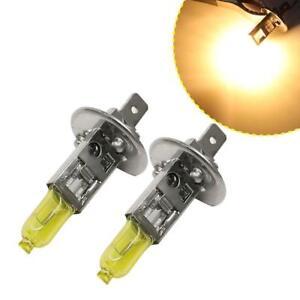 2X-12V-55W-3000K-H1-Yellow-Halogen-Headlight-Fog-Lamp-Bulb-foruto-Car-Y1U2