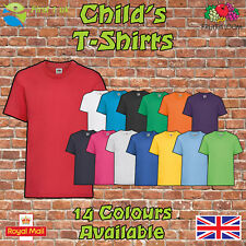 Kids Plain T Shirts Fruit of The Loom Children's Youth T-Shirts Childs Tee Shirt
