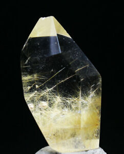 6g Rare Natural Clear Gold Sun Sunflower Rutilated Quartz Crystal Healing
