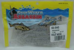 """Bass Assassin SSA25433 4"""" Sea Shad 10 Pk Violet Moon 24171"""