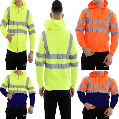High Quality Hi Vis Viz Sweatshirt Hoodie Mens Zipup Reflective Fleece Hoody In Vielen Stilen