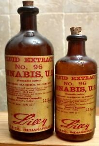 Vintage-Medicine-Hand-Crafted-Bottle-2-Cannabis-Fluid-Extract-Lilly