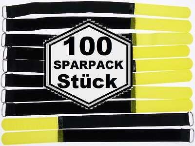 100 X Nastro Di Velcro Cavo Velcro 300 X 20 Mm Giallo Cavo Nastro Di Velcro Binder Fascette Per Cavi- Bello A Colori