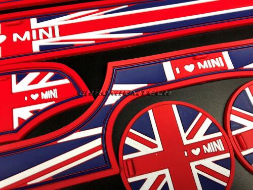 MK3 Mini Cooper//S F56 F57 Union Jack Posavasos Sostenedor De Taza Esteras De Puerta Lateral 9 un.