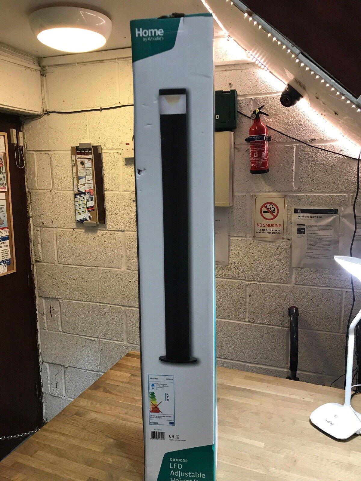 Outdoor LED regolabile in altezza POST NERO Ip44 1154639