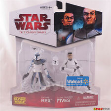 Star Wars The animated Clone Wars 2009 Captain Rex & Clone Trooper Fives 2 pack