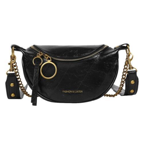 Fashion PU Leather Crossbody Bags Women Chain Small Shoulder Travel Handbag Tote
