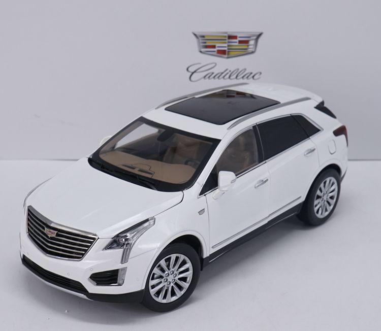 Original 1 18 SAIC-GM CADILLAC XT5 2017 white alloy car model collection
