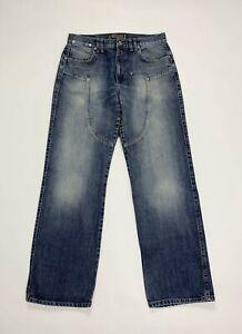 Esse-effe-jeans-uomo-usato-W34-tg-48-gamba-dritta-relaxed-denim-boyfriend-T5286