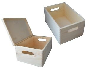 Wooden-Box-Storage-Decoupage-30-x-20-cm-PLAIN-WOOD-With-Without-Lid