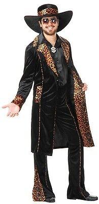 Cat Man Do Mac Daddy Pimp Black Leopard Fancy Dress Up Halloween Adult Costume