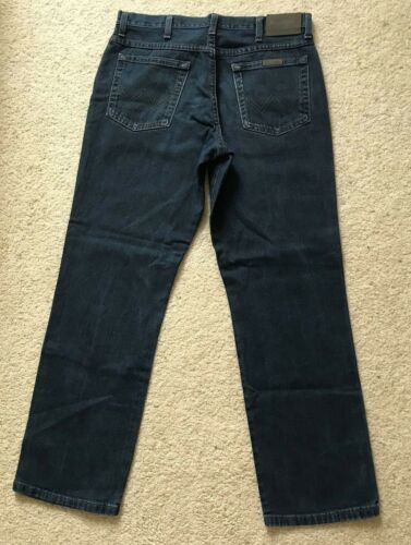 Wrangler L Blue 30 W Denim Mens Straight Regular Indigo Jeans 33 Leg Fit dw7qPI
