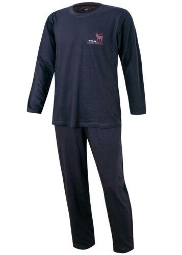 Herren Schlafanzug lang Herren Pyjama Hausanzug Nachtwäsche aus 100/% Baumwolle