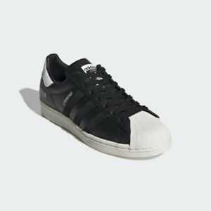 Adidas-Originals-Superstar-Noir-en-Cuir-Blanc-Casse-UK-9-5-Stan-Smith-Gazelle-OG