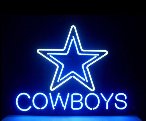 "New Dallas Cowboys Logo Bar Poster Beer Light Lamp Neon Sign 14/"""