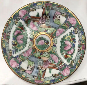 Vintage-Japanese-Porcelain-Famille-Rose-Medallion-Decorated-In-Hong-Kong