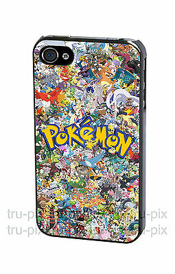 Pokemon All Pokemons Stickerbomb Phone Case Cover for iPhone & Samsung
