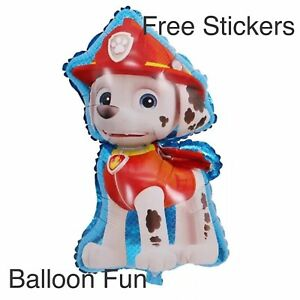 Details about Large PAW PATROL BALLOONS Marshall Toys BIRTHDAY PARTY  SUPPLIES AUS SELLER Dog