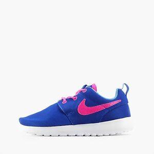 a07249a69bbe Nike Roshe Run Kids Children Toddler s Shoes in Hyper Cobalt Pink