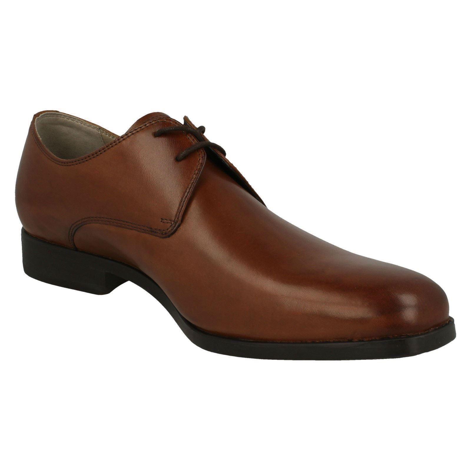 Herren Clarks amieson Walk Smart schwarz oder tan Leder Schnürschuhe G PASSFORM