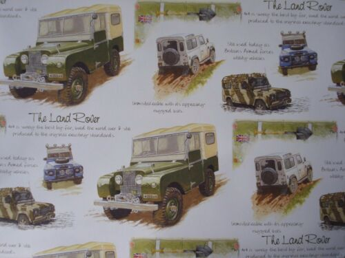 QUALITY BIRTHDAY GIFT WRAPPING PAPER LAND ROVER POPPY BALLET LONDON VULCAN