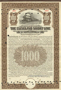 The-Cleveland-Short-Line-Railway-Company-gt-1911-Ohio-Railroad-stock-certificate
