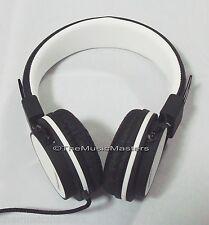 Home Audio Studio Monitor DJ Style HiFi Stereo Headphones HD Sound Quality White