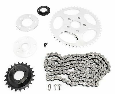 Chain Drive Transmission Sprocket Conversion Kit Belt to Chain For 2000-UP Harley Sportster 72 48 Iron Roadster 883 1200 XL