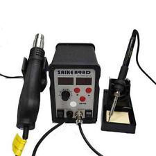 Smd Rework Soldering Station Hot Air Gun Amp Solder Iron Saike 898d 110v