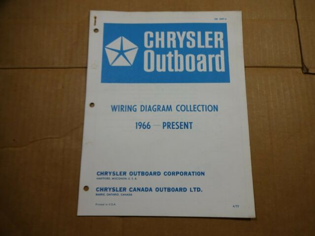 1966-1977 Chrysler Outboard Wiring Diagrams manual 9.2-150 ...