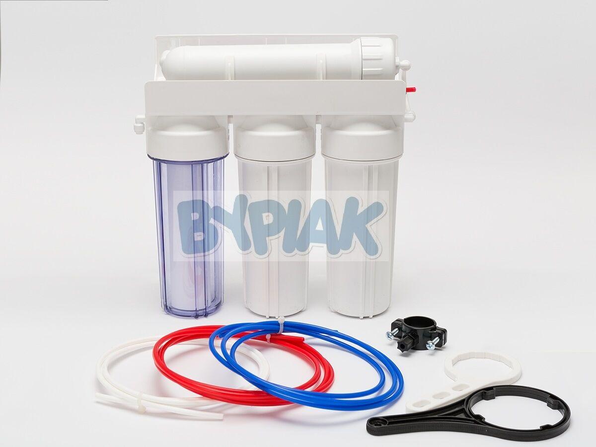 4 Fase Fase Fase RO Osmosi Inversa Filtro 5075100150GPD ACQUARIO MARINO TROPICALE bca043