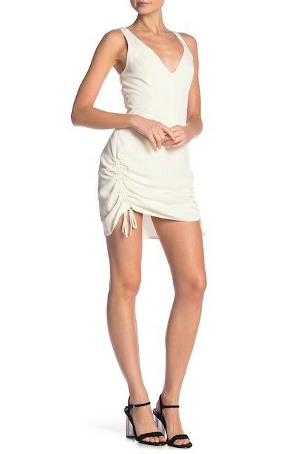 Amanda Uprichard damen V-Neck Drawstring Dress Sz P Ivory NWT 225