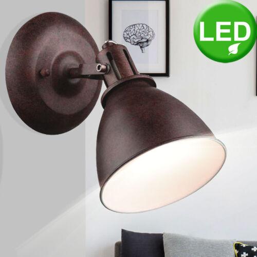 Retro LED Wand Strahler Ess Zimmer Leuchte Spot drehbar rostfärbig Living-XXL