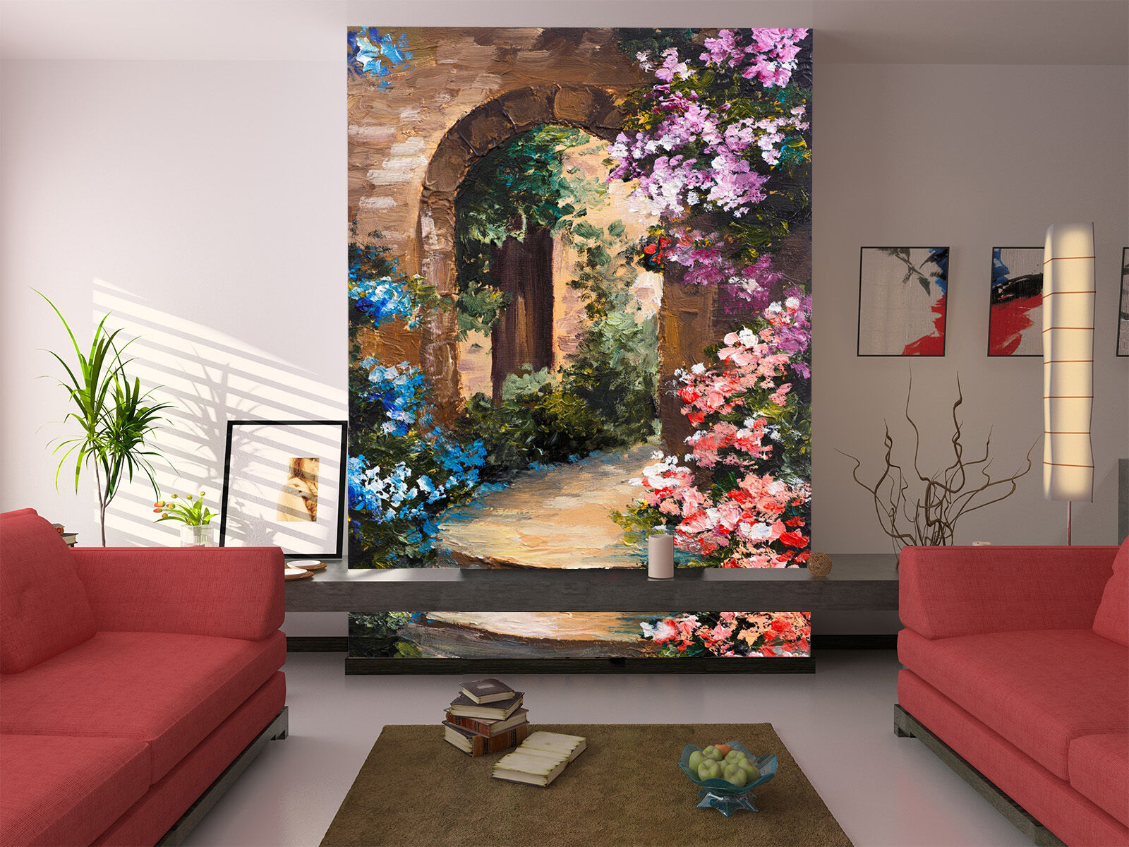 3D Flower Vines Arches Wall Paper Murals Wall Print Decal Wall Deco AJ WALLPAPE