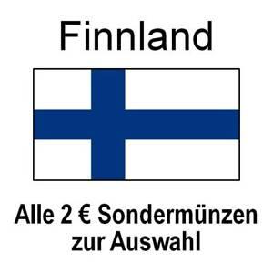 Finnland - alle 2 Euro Sondermünzen Gedenkmünzen - alle Jahre - bankfrisch unc.